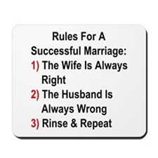 Rules For A Successful Marriage Mousepad