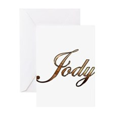 Gold Jody Greeting Cards