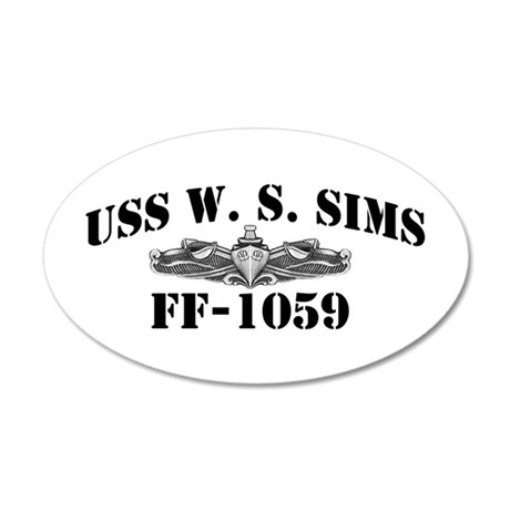 USS W. S. SIMS 20x12 Oval Wall Decal