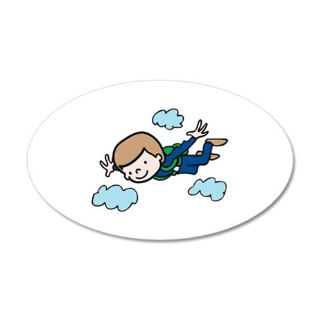 Skydiving Boy Wall Decal