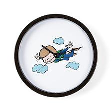 Skydiving Boy Wall Clock