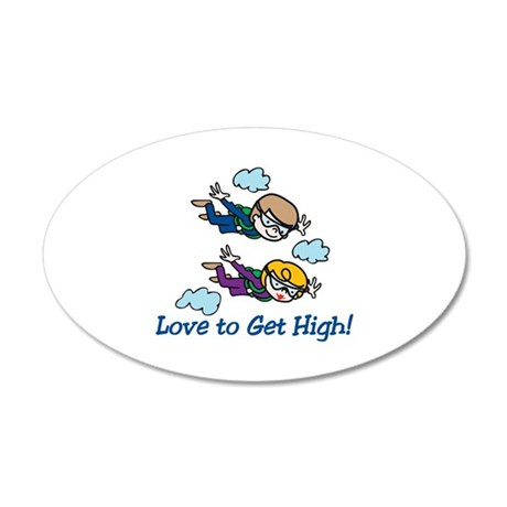 Skydiving High Wall Decal