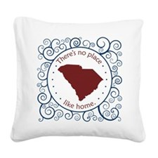 South Carolina Square Canvas Pillow