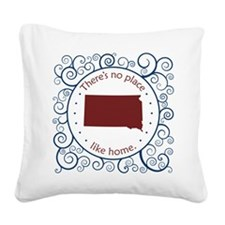 South Dakota Square Canvas Pillow