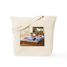 Sleeping Dachshunds Tote Bag