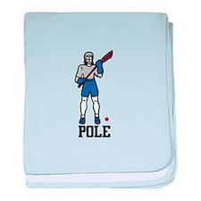 Lacrosse Pole baby blanket