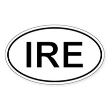 Ire - Ireland Oval Car Decal