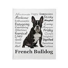 Frenchie Traits Throw Blanket