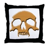 Skull (Wood Vampire) Throw Pillow