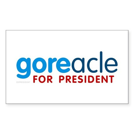 Goreacle for President Rectangle Sticker