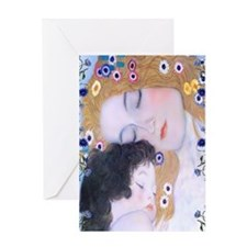 Gustav Klimt Mother & Child Nook Sle Greeting Card