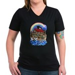 Noah's Ark Women's V-Neck Dark T-Shirt