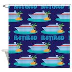 Cruise Ship Retired Shower Curtain