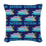 Cruise Ship Retired Woven Throw Pillow