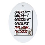 Graduate Oval Ornament