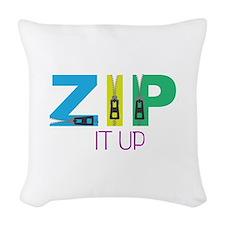 Zip It Up Woven Throw Pillow