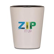 Zip It Up Shot Glass