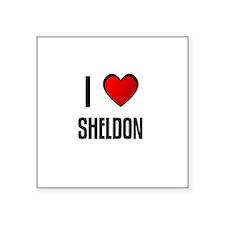 """Cute Sheldon Square Sticker 3"""" x 3"""""""