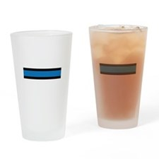 Law Enforcement Stripes Drinking Glass