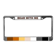Cute Bear pride License Plate Frame
