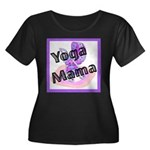 Yoga Mama Women's Plus Size Scoop Neck Dark T-Shir