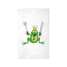 Cute Frog prince 3'x5' Area Rug