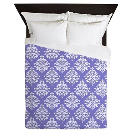 Damask Lavender Queen Duvet