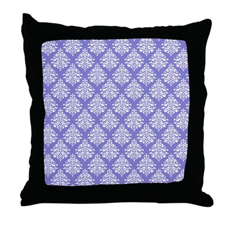 Damask Lavender Throw Pillow