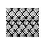 Damask black white Throw Blanket