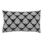 Damask black white Pillow Case