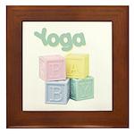 Yoga Baby Blocks Framed Tile
