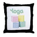 Yoga Baby Blocks Throw Pillow
