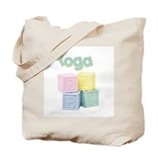 Yoga Baby Blocks Tote Bag
