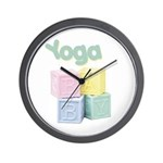 Yoga Baby Blocks Wall Clock
