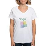 Yoga Baby Blocks Women's V-Neck T-Shirt