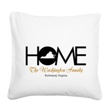 Virginia Home Square Canvas Pillow
