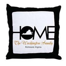Virginia Home Throw Pillow