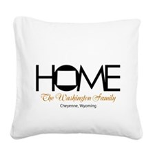 Wyoming Home Square Canvas Pillow