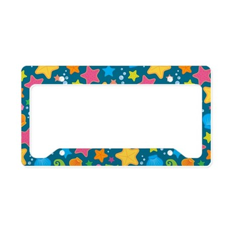 Sea Creature Pattern License Plate Holder