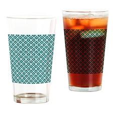 Dark Cyan and White Drinking Glass