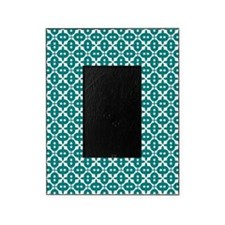 Dark Cyan and White Picture Frame