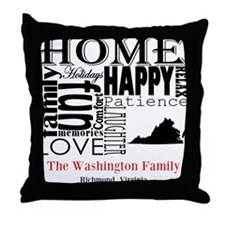 Virginia Text Throw Pillow