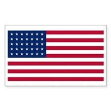 35 Star US Flag Rectangle Decal