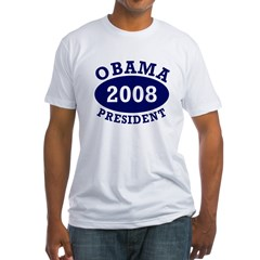 Obama 2008 President Fitted T-Shirt