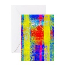 Weathered paint stripes Greeting Cards