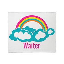 Rainbow Cloud Waiter Throw Blanket