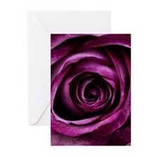 Purple Rose Greeting Cards