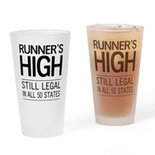 Runners high still legal Drinking Glass