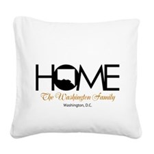 Washington, D.C. Home Square Canvas Pillow