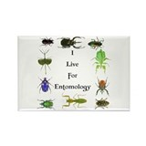 I Live For Entomology 1 Rectangle Magnet (100 pack